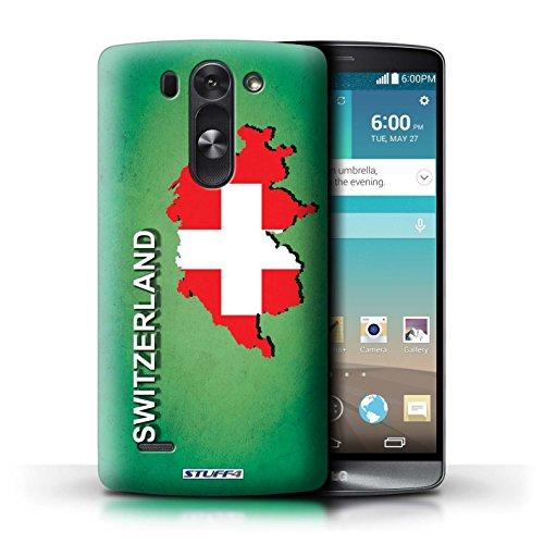 Kobalt® Imprimé Etui / Coque pour LG G3 S (Mini)/D722 / Suisse/Swiss conception / Série Drapeau Pays