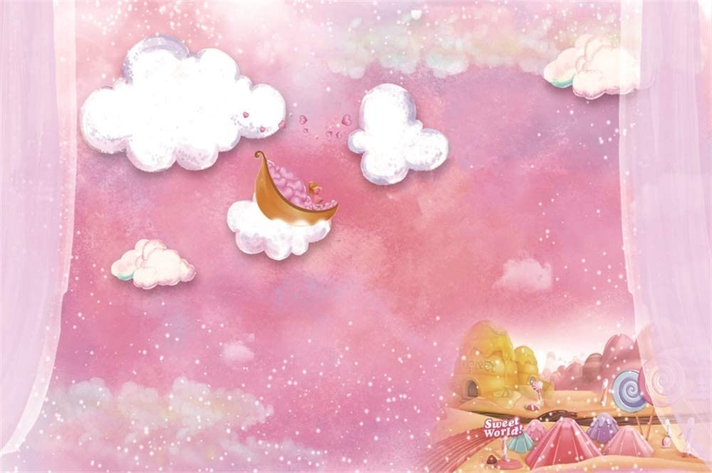 Gender Neutral Newborn Photography Backdrop Hand Painted Dreaming of Daisies Poly Paper Backdrop Wrinkle Free Fabric Backdrop