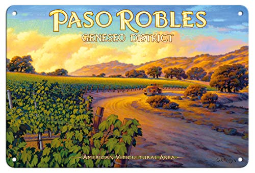 Pacifica Island Art 8in x 12in Vintage Tin Sign - Paso Robles - Geneseo District by Kerne Erickson by Pacifica Island Art (Image #1)