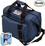 ao cooler vinyl - AO Coolers Canvas Series Soft Cooler with High-Density Insulation, Size 24-Can, 30 Qt. - #AO24NB - Navy Blue & Fit & Fresh Cool Coolers Slim Ice 4-Pack (Bundle)