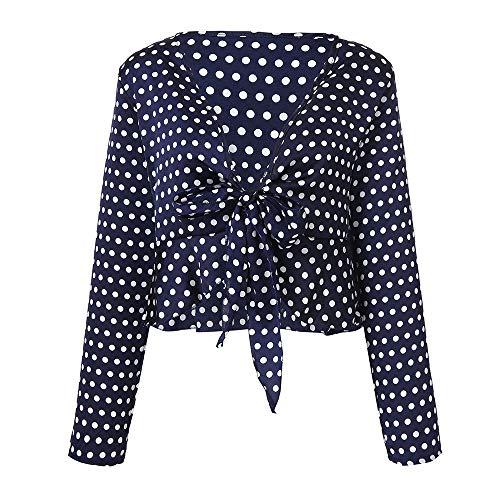 YUAFOAE SoirE Bleu Sexy Fonc Causal Tops Chemisie Longues BohMe Amples Chic Blouse V A Poisr pour Femme Col Shirts Ladies Manches 1YqrHw1v