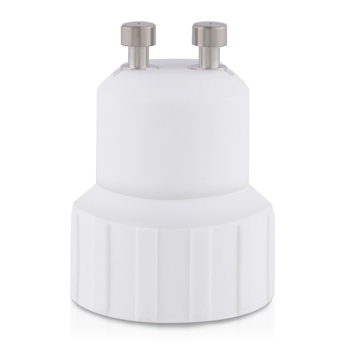 4 Pack in White LED Bulbs kwmobile GU10 to E14 Adapter Kit Light Socket Bulb Base Adapter Converter GU10 to E14 for Halogen