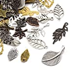 Pack Of 30 Grams Mixed Tibetan Random Shapes & Sizes Charms (LEAF) - (HA06670) - Charming Beads