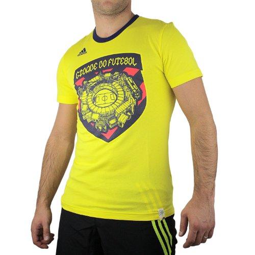 adidas Brazil City Graphic Tee Shirt- Lemon Peel (XL)