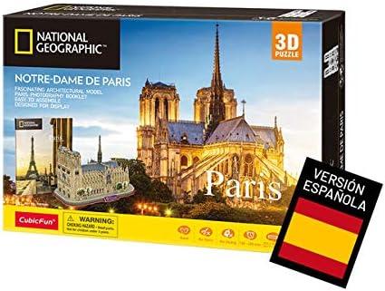 World Brands- Puzzle 3D Notre Dame de Paris, Color variado (Tachan DS0986h): Amazon.es: Juguetes y juegos