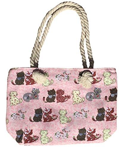 Tote Bag - Pink Cat - 3