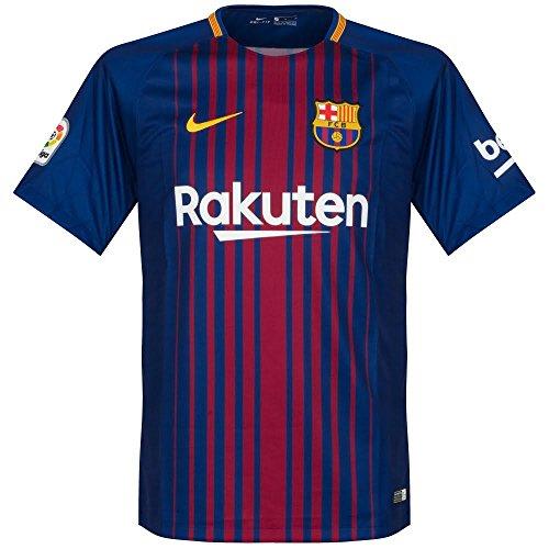 NIKE 2017/18 Kids FC Barcelona Stadium Jersey with Sponsor [DEEP Royal Blue]