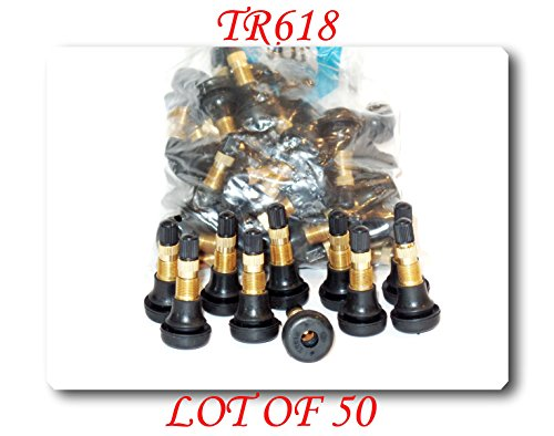 Wholesales price (50 KITS) TR618 Snap-in Air Liquid Tractor Tire Valve For Lawn Garden-Tractor Wheel (Pressure Pro Tire Monitoring System Best Price)