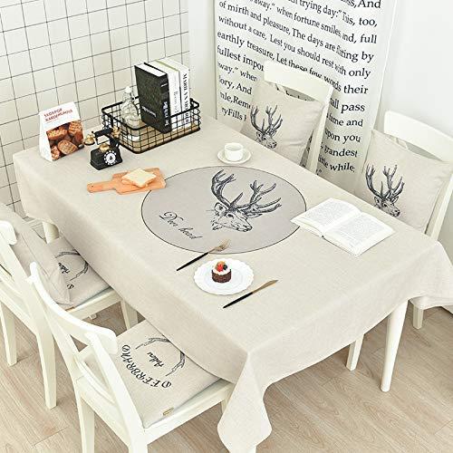 テーブルクロスマット ホーム厚い綿のリネンテーブルクロス北欧のコーヒーテーブルのテーブルクロス長方形のテーブルクロスラウンドテーブルクロステレビキャビネットカバーをカスタマイズすることができます ホームデコレーション (色 : C, サイズ : 180*140cm) 180*140cm C B07QL1BTQP
