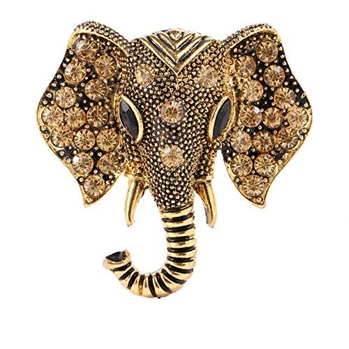 ZN LOVE Fashion Vintage Corsage Pins Gold Elephant Pin, B03