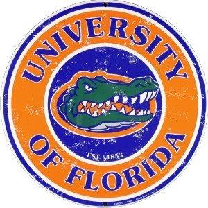 University of Florida Gators (retro) Collegiate Embossed Metal Circular Sign CS60093 - University Florida Seal
