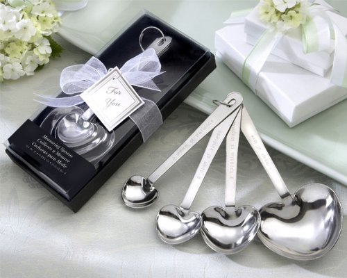 50 ''Love Beyond Measure'' Heart-Shaped Measuring Spoons in Gift Box by Kate Aspen