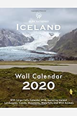 2020 Iceland Wall Calendar: With Large Cells Calendar Grid, featuring Iceland Landscapes, Coasts, Mountains, Waterfalls and Wild Animals (Iceland Wall Calendars / Desktop Calendars Series) Paperback