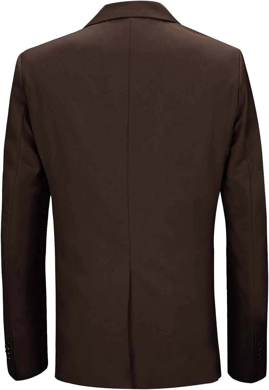 Yaolor Men Slim Fit Casual Two Button Long Sleeve Blazer Jacket Outwear