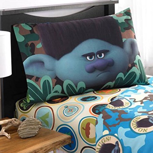 Dreamworks Trolls Branch Microfiber Twin Sheet Set