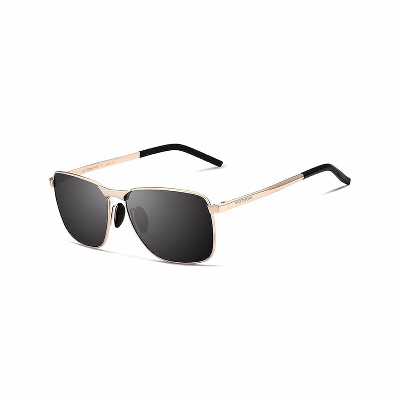 45d1cc87f0 Buena Los hombres de marca de gafas de sol polarizadas lente UV400 Men's  Vintage Accesorios gafas