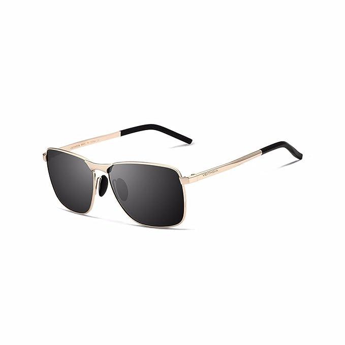 Los hombres de marca de gafas de sol polarizadas lente UV400 Mens Vintage Accesorios gafas Gafas de sol para hombres / mujeres, oro: Amazon.es: Ropa y ...