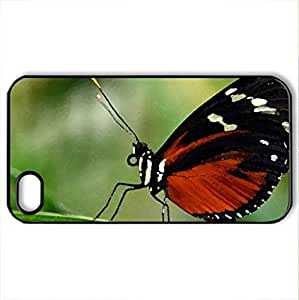 Beautiful butterfly - Case Cover for iPhone 4 and 4s (Butterflies Series, Watercolor style, Black) by icecream design