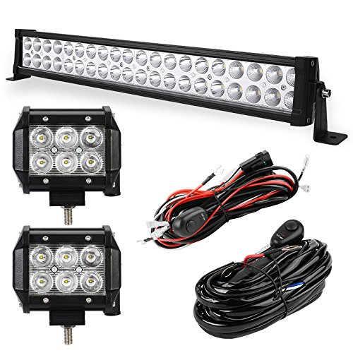 YITAMOTOR LED Light Bar 24 Inch 120W Light Bar Combo + 2PCS