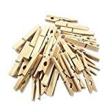 JABINCO (Pack of 50) Wooden Clothespins About