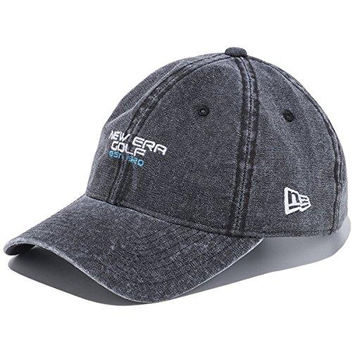 犯人コンバーチブル利点ニューエラ ゴルフ 9TWENTYクロスストラップ NEW ERA GOLF ダックキャンバス キャップ 帽子 ブラック