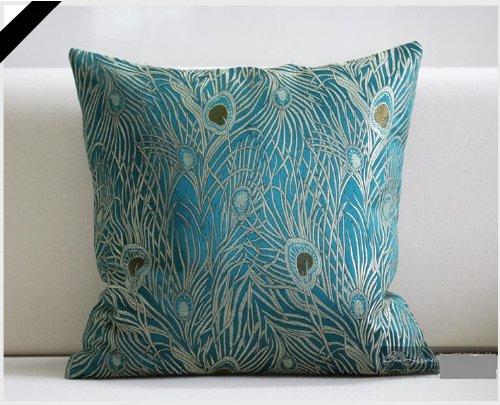 Amazoncom Fablegent 18 x 18Inch Sapphire Blue Peacock Design