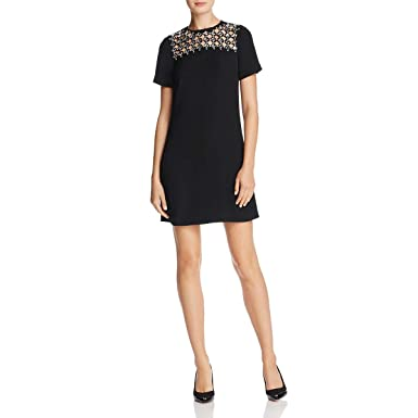 9d4f013ce9c8d4 Michael Michael Kors Womens Laser-Cut Embellished Cocktail Dress Black XS  at Amazon Women s Clothing store
