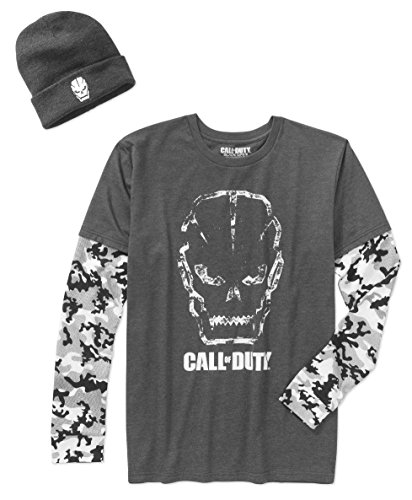 Call of Duty Long Sleeve Men's Graphic Shirt with Beanie