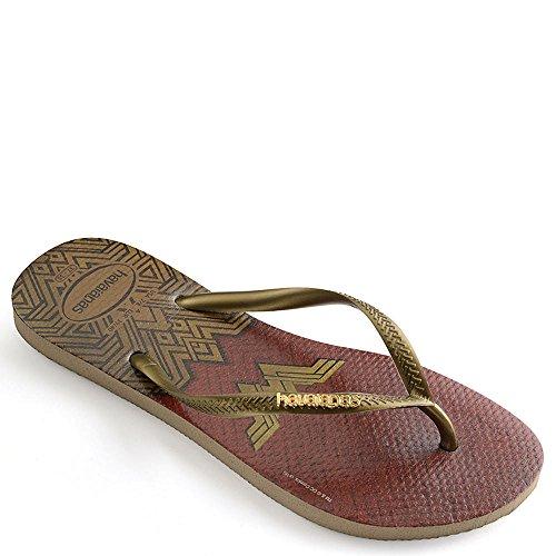 Havaianas Women's Slim Wonder Woman Sandal, Rose Gold,39/40 BR (9-10 M US)