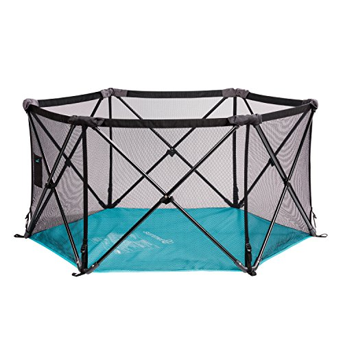 Buy Discount Summer Infant Pop n' Play Portable Playard, Tropical Turquoise, One Size