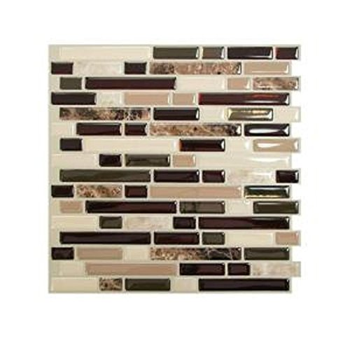 10 in. x 10 in. Peel and Stick Mosaic Decorative Wall Tile in Bellagio (12-Piece)