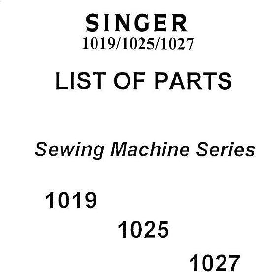 Descargar Pdf-File Singer 1019/1025/1027 Manual de usuario máquina ...