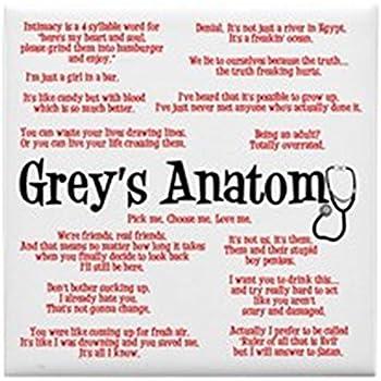Amazon Com Cafepress Grey S Anatomy Quotes Tile Coaster