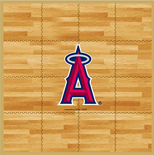 MLB Los Angeles Angels MLB 8-foot by 8-foot Fan Floor, Tan, 8-foot (Angels Tailgater Rug)