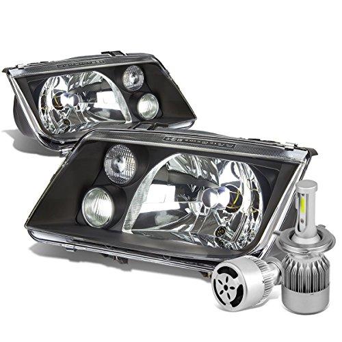 - For VW Jetta/Bora A4 Typ 1J Pair of OE Style Black Housing Headlight + H4 LED Conversion Kit W/Fan