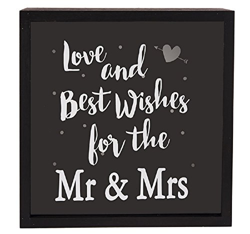 Ganz Best Wishes for the Mr and Mrs Wedding Wishes Box Sign