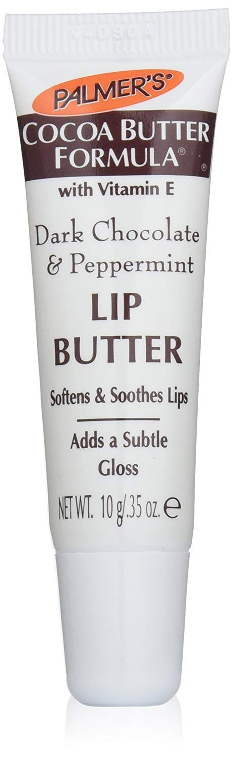 Palmer s Cocoa Butter Dark Chocolate Peppermint Lip Butter with Vitamin E 0.35 Ounces Pack of 12