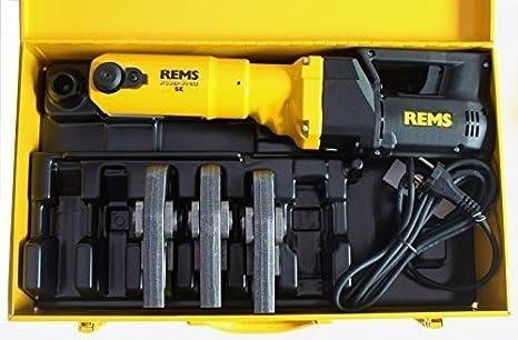 REMS, máquina de prensar Power Press E + 3 mordazas de prensa M o V + maletín