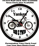 1971 YANKEE 500 Z TWIN MOTORCYCLE WALL CLOCK-FREE USA SHIP!