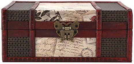 Aufbewahrungsbox Aufbewahrungsbox aus Holz, Taidda- Aufbewahrungsbox aus Holz, Vintage-Schmuck-Organizer 9,1 * 6,3 * 3,9 Zoll großer Holz-Buch-Organizer für Geschäftsdokumente Bücher(9.1 * 6.3 * 3.9in