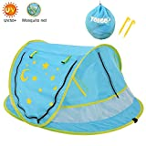 Yoego Large Baby Travel Tent, Portable Baby Beach Crib Bed, Automatically Pop Up, UPF 50+, Sun Shelters Shade, Baby Tent for Camping, Travel, Outdoor and Indoor(No Pad)