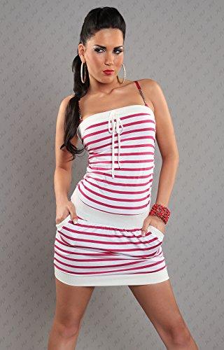 WeaModa - Vestido - Sin mangas - para mujer Rosa