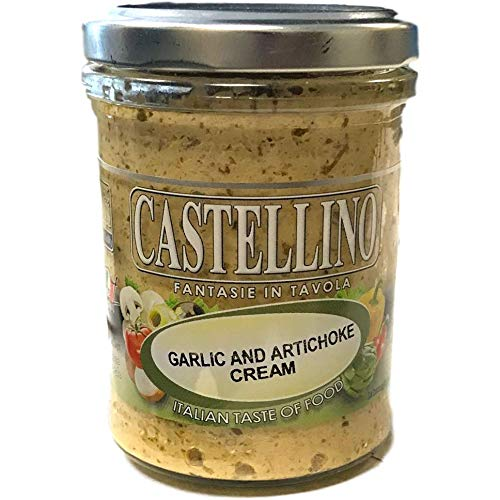 Garlic and Artichoke Cream by Castellino Original Italian Garlic 100% gourmet food from italy perfect for your foods (6 PACK)