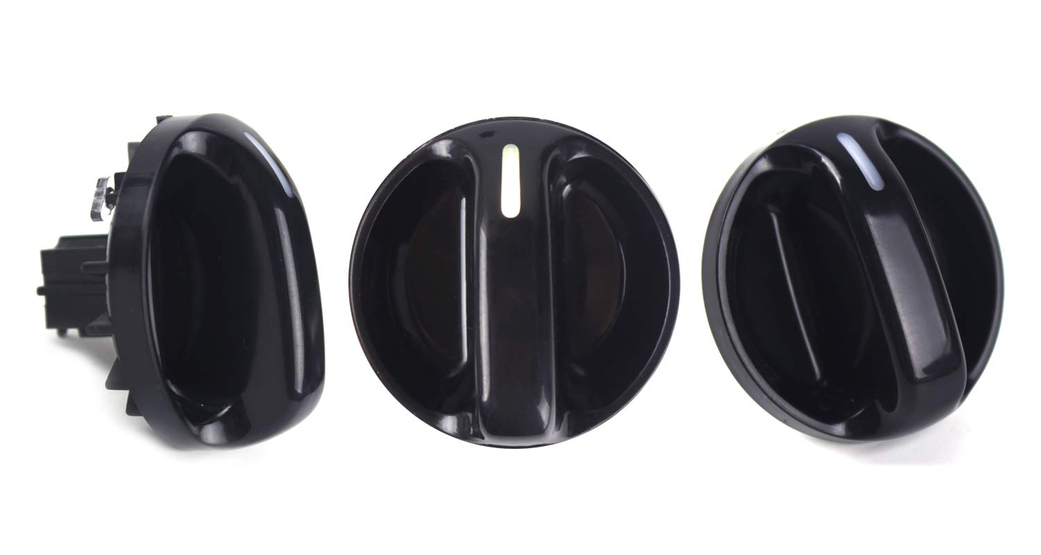 Set of 3 AC Heater Blower Fan Control Knob Replacement for 2000-2006 Toyota Tundra Air Conditioner Replacement Switch 55905-0C010, 559050C010 A/C Knob Xislet