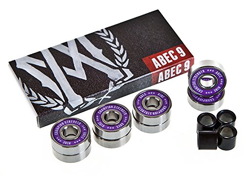 Aggressivemall ABEC 9 Skate Bearings (8 set)