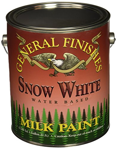 General Finishes Water Based Milk Paint Snow White Gallon - Bright White Interior Paint