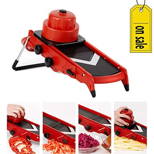 (Adjustable V Blade Mandoline Vegetable Slicer and Dicer)