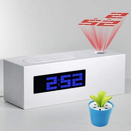 Radio Despertador Proyector Reloj Despertador De Proyección Con ...