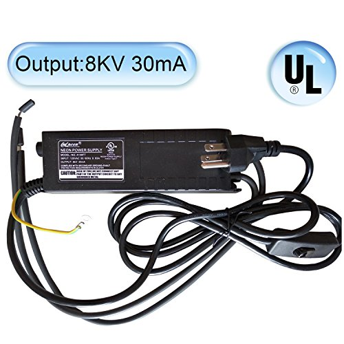 Brand New UL Approval NG.A108FT 8kV 30mA Glass Neon Sign Power Supply Neon Light Electronic Transformer with Brightness Adjustable Dimmer Knob