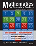 Mathematics for Elementary Teachers: A Contemporary Approach 10e Binder Ready Version + WileyPLUS Registration Card (Wiley Plus Products)